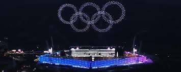 1218 drones en la ceremonia de inauguración de los Juegos Olímpicos de Invierno