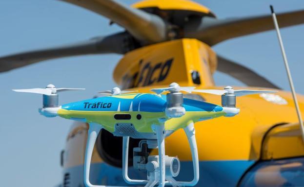 La DGT pone drones para vigilar las carreteras en el puente de mayo