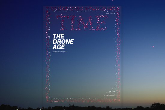 """La revista """"TIME"""" usa 958 drones para su nueva portada"""