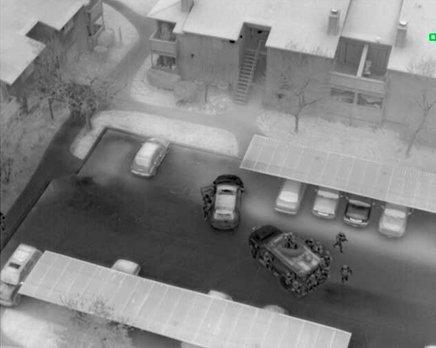 Seguridad y protección con drone termográfico