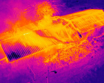 Soporte en incendios con drone termográfico