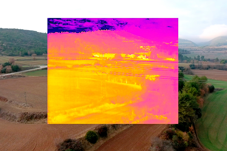 drone termografico